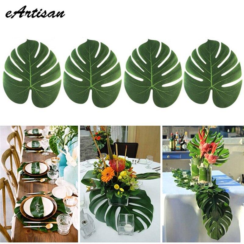 home decor ideas use tropical leaves.htm eartisan 60pcs lots artificial tropical palm fake plant leaves  eartisan 60pcs lots artificial tropical