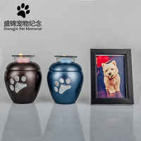 New candle pet urn Paw Heart Cremation Urn Dog Pet Cinerary Funeral Casket Pet Memorials No Deformation Paw Pattern
