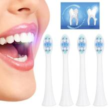 Tête de brosse à dents électrique 4 pièces, accessoire de tête de rechange pour brosse à dents sonique de nettoyage pour Philips
