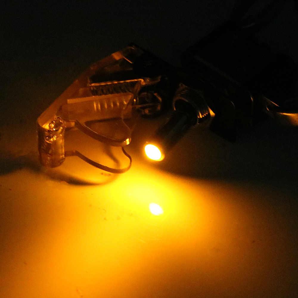 上のドライバ/オフスイッチロッカーユニバーサルスイッチ車のカバープロテクターオートカバーledライトledスイッチ内装部品 1 個 12v
