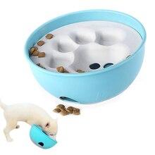 Dog feeder bowl blue / orange puzzle feeding  interactive fun dog food slow plate  product  cats blue dog