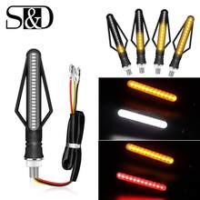 Luces LED de señal de giro para motocicleta, lámparas indicadoras DRL para placa de matrícula, bombillas de freno trasero, blancas, amarillas y rojas