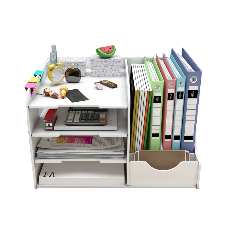 DIY Magazine Organizer Book File Holder Multifunction Desktop Magazine Storage Box Desk Accessories Office Home School Supplies