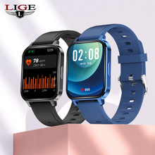 LIGE 2021 New 1.7inch Full Touch Screen Smart Watch Men smartwatch Mens Waterproof Sport Watch Heart Rate Blood Pressure Monitor