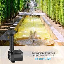 Solar Fountain Pump Solar Pond Pump Solar Panel Water Pump for Garden Pool Pond Aquarium Fountain, with 4 Nozzles 7v solar powered fountain water pump connect tube with nozzles solar birdbath fountain pump for garden waterfalls pond fish tank