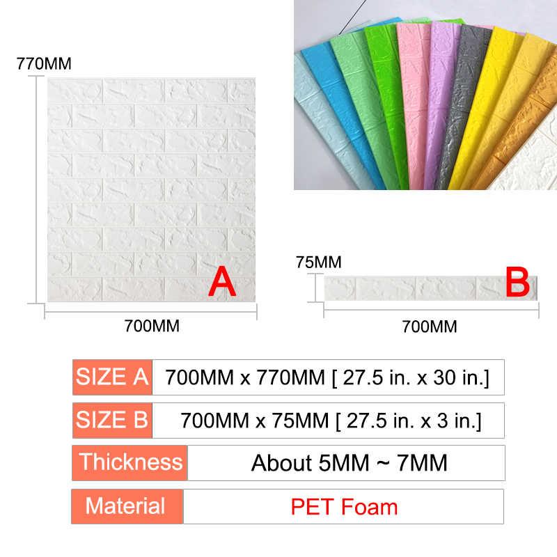 3D Stiker Dinding Bata Perekat Diri Tahan Air Diseduh Sendiri Dekorasi Kertas Dinding 3D untuk Kamar Tidur Kamar Anak-anak 3D Dinding Bata stiker Ruang Tamu