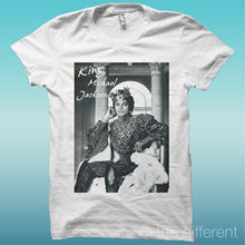 T-SHIRT  KING MICHAEL JACKSON VINTAGE WHITE T Shirt Gift More Size And Colors top tee