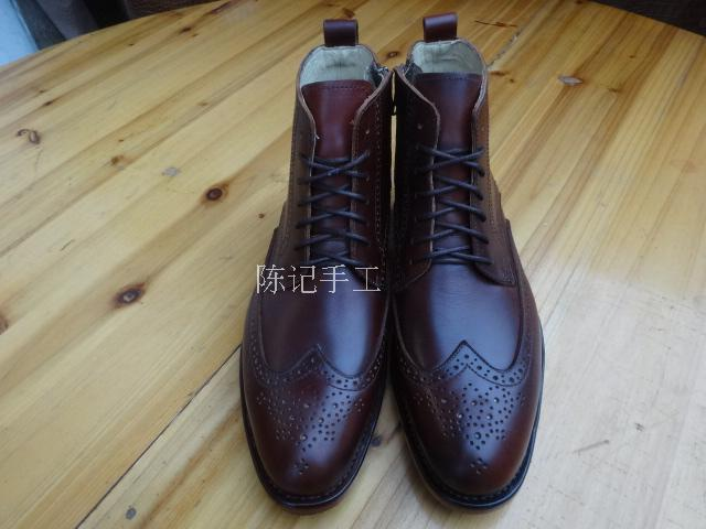 Dress Shoes Customize Leather Shoes Handmade Leather Worker Cowboy Carved Cattle Leather Pointed Toe Ankle Genuine Leather Men