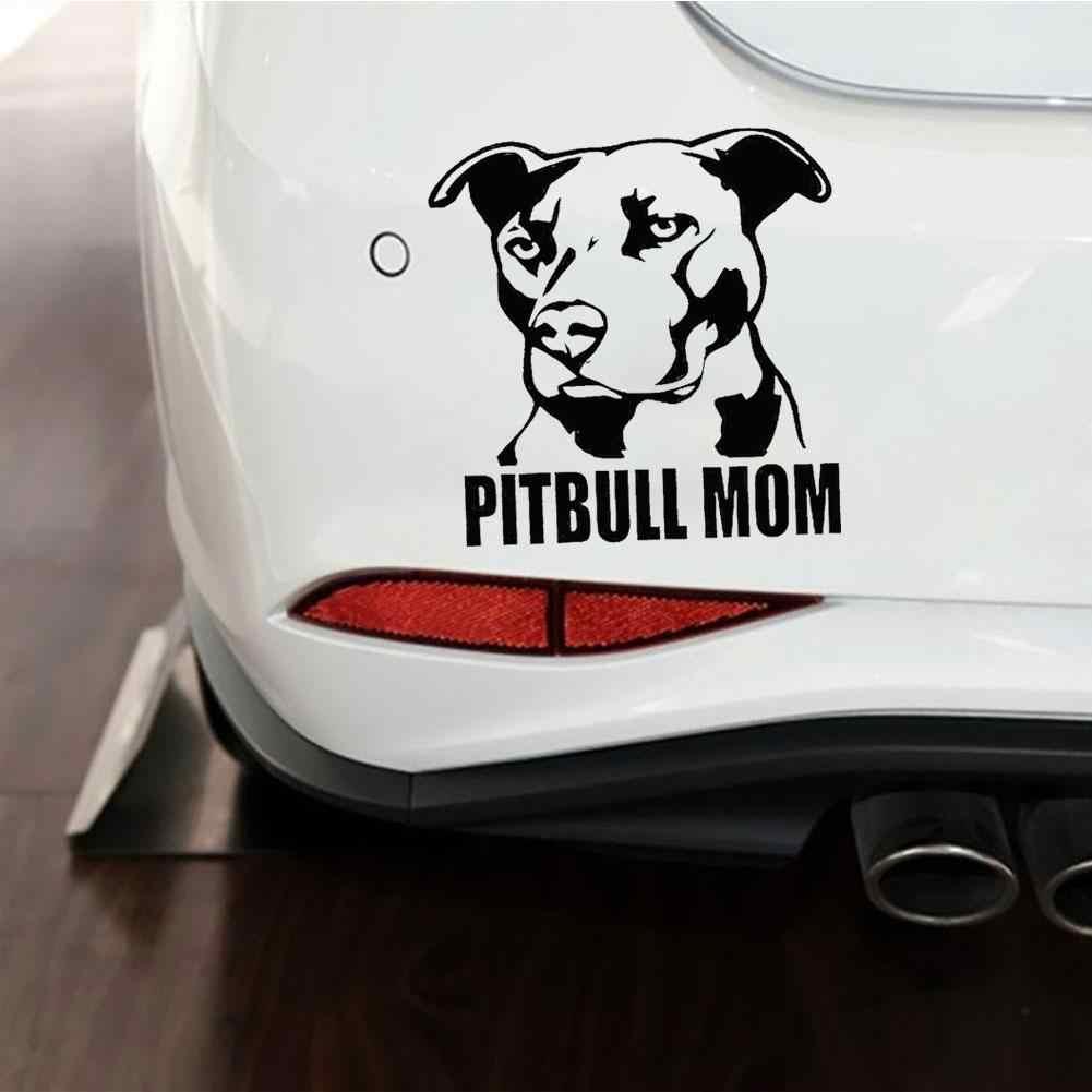 Pitbull Mom สุนัขรถหน้าต่างสะท้อนแสง Decals สติกเกอร์ตกแต่งรถอุปกรณ์เสริมภายนอก Boutique 2019