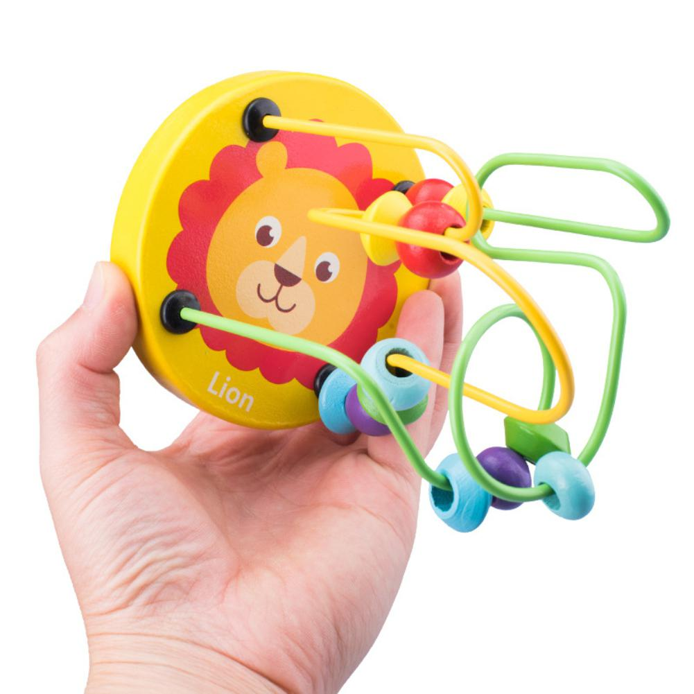 Kuulee Kids Wooden Cartoon Pattern Mini Around Beads Math Educational Toy Random Color Style Kids Toys