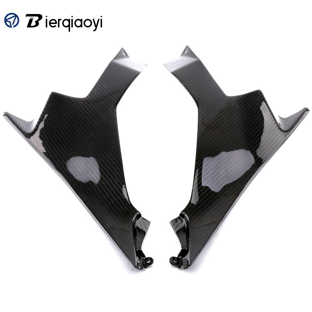 for kawasaki 400 ninja Motorcycle ninja 400 Parts Real Carbon Fiber Left Right Tank Side Panel Cover For Kawasaki Ninja 400 2018 in Covers Ornamental Mouldings from Automobiles Motorcycles