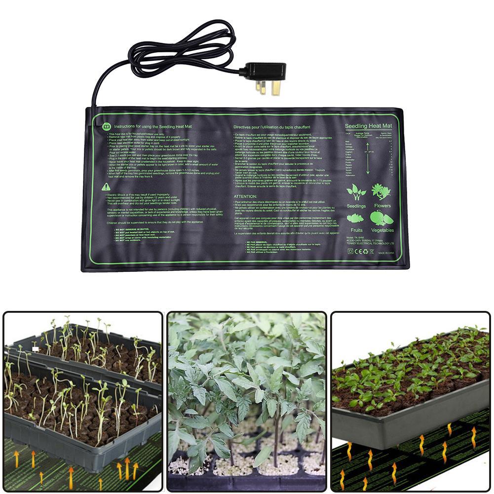 New Nursery Seedling Heat Mat Plant Seed Germination Propagation Clone Starter Pad Waterproof Garden Supplies US UK EU AU Plug