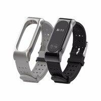 Cinturino mi Band 2 cinturino per cinturino sportivo mi band correa pulseira accessorio per orologio con fibbia in acciaio inossidabile al silicone