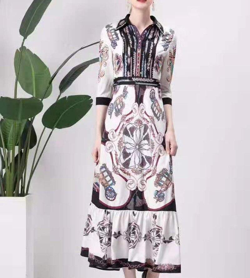Одержимый лавандой. Новые платья, принты, этнические стили, осень, женская одежда, узоры, талия, элегантные вечерние - 5