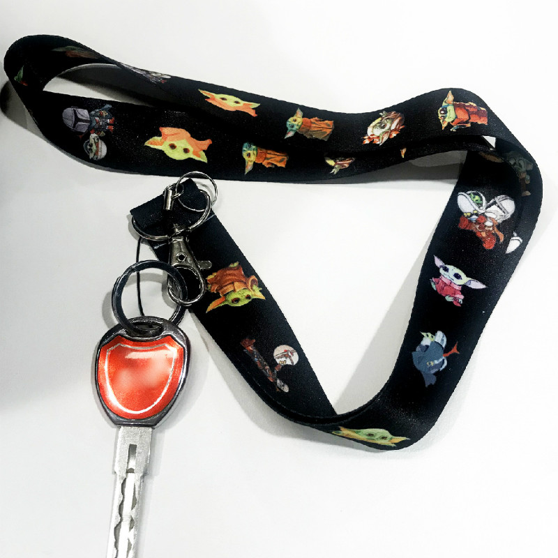 Baby Yoda The Mandalorian Key Lanyard Neck Strap Lanyards Star Wars 9 Mobile Phone Straps