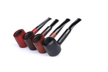 Briar pipes tobacco smoking pipe smooth finish 9mm filter poker pipe shape #CK1020 ганг сумка briar 3х16х25 см
