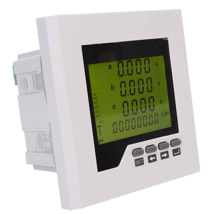 Original profissional lcd power meter 3 phase