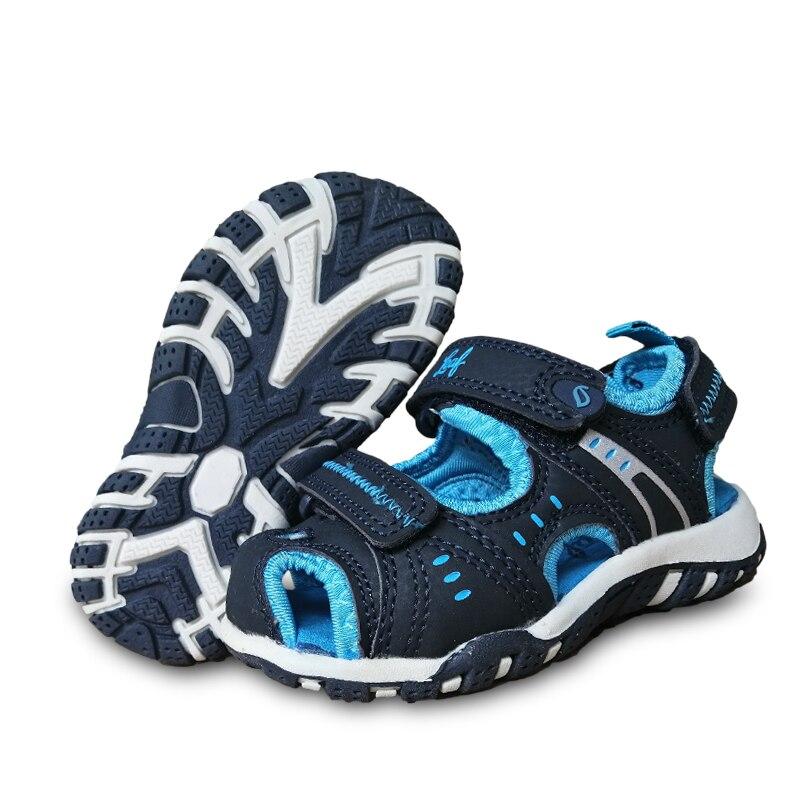 nova moda 1 par verao sandalias de couro antiderrapante criancas sapatos de praia interno 14 18