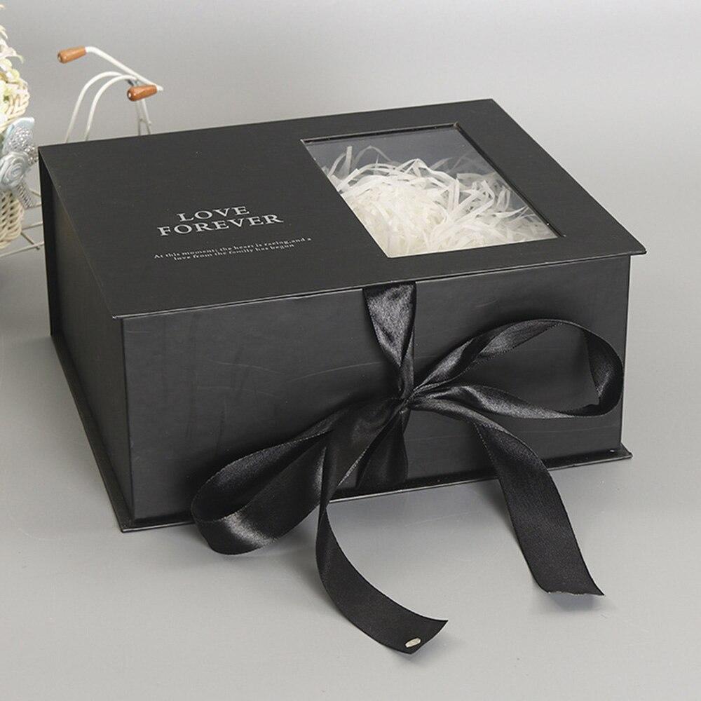 165*120 мм новые круглые бумажные коробки для цветов с крышкой, ведерко для цветов, подарочная упаковочная коробка, подарочные коробки для конфет, вечерние, Свадебные Поставки - Цвет: D(black)