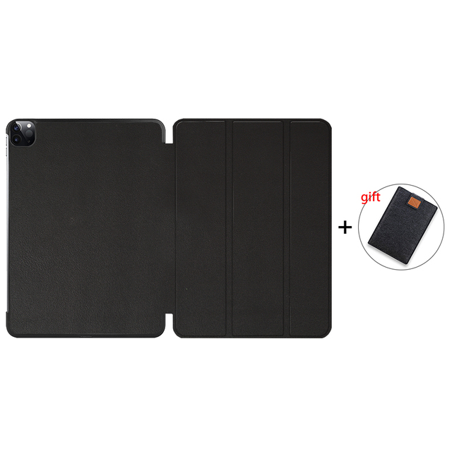 Black Gold MTT Case For iPad Pro 12 9 4th 3rd Generation 2020 2018 PU Leather Magnetic Flip