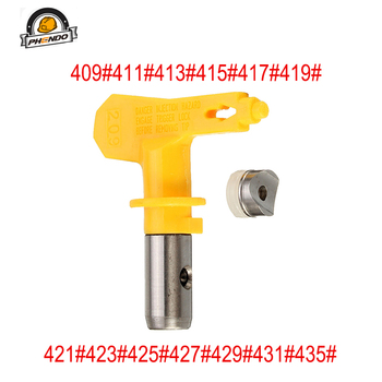 цена на PHENDO 4 series Airless Tip 409/411/417 spray nozzle for airless paint sprayer gun Seat Guard for Graco Titan Wagner