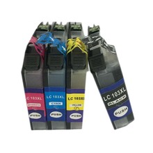 vilaxh lc103 LC101 ink cartridge for brother DCP-J152W MFC-J245 MFC-J285DW MFC-J450DW MFC-J470DW MFC-J475DW printer 1 set refillable ink catridge for brother lc161 lc 161 for brother dcp j152w j752dw mfc j245 470dw 650dw j870dw with newest arc