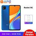 Глобальная версия Xiaomi Redmi 9C мобильный телефон 3 Гб RAM 64 Гб ROM MediaTek Helio G35 6,53