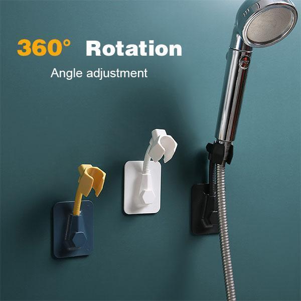 360° Shower Head Holder Punch-Free Adjustable Wall Mounted Adjusting Bracket Base Mount Brackets Bathroom Accessories