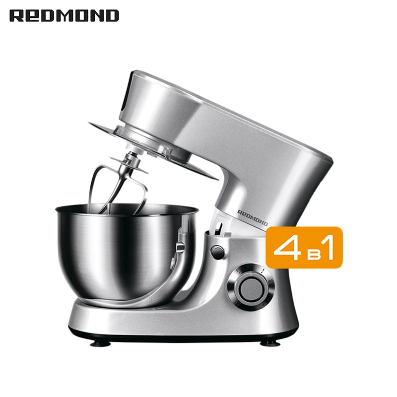 Food Processor REDMOND RKM-4030 Kitchen Machine Planetary Mixer with bowl stand Household appliances for kitchen led spout swivel spout kitchen sink faucet pull out mixer tap with cover plate nickel brushed finished