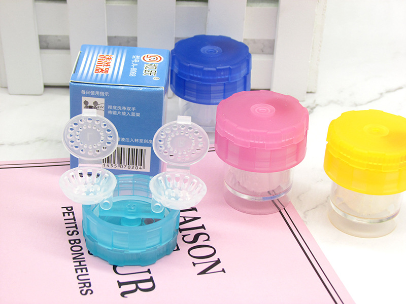 Hot Manually Contact Lens Cleaner Washer Lenses Case Contact Lenses Cleaning Tool