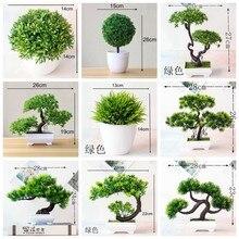 Verde artificial pinheiro monstera grama persa eucalipto plantas bonsai acessórios para casa quarto sala de estar decoração planta falsa