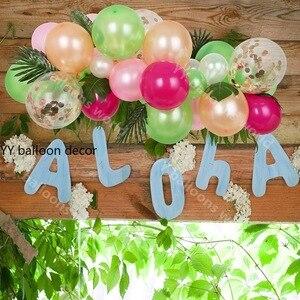 Image 3 - 81 個トロピカルパーティー風船アーチ花輪装飾キットホットピンクゴールド白風船のためハワイ誕生日結婚