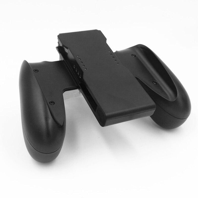 1 Juegos de PC controlador de la manija de la empuñadura cómodo soporte del soporte de la manija para el abrazadera de mango de plástico de Nintendo Switch Joy-Con
