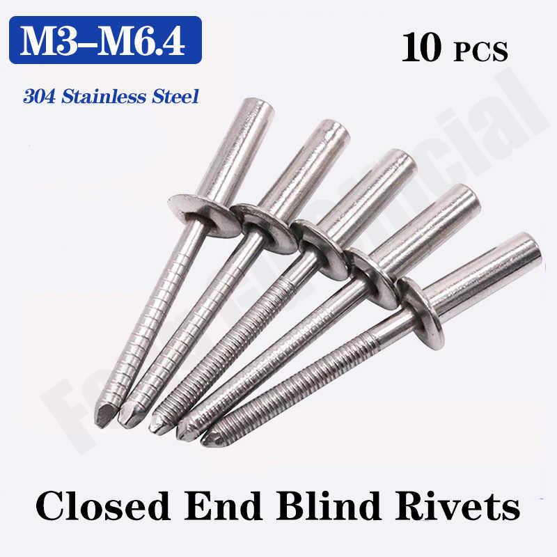 Xinger M2.4 M3.2 M4 M5 Remaches Ciegos de Aluminio Negro Decoraci/ón de u/ñas Remaches Pop para Muebles M2.4 50 Piezas/// 5 mm