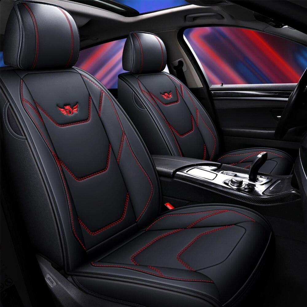Tampas de assento de carro de couro para nissan nota almera x-trail leaf teana tiida altima juke qashqai capa de almofada de assento de automóvel acessórios