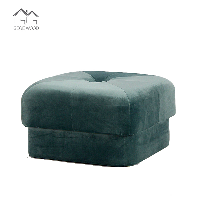 A Living Room Fabric Art Sofa Stool Northern Europe Lazy People Small Board Stool Modern Originality Changing Shoes Stool