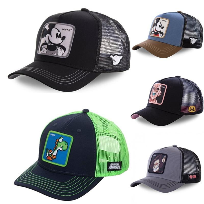 New Brand Super Mario Dragon Ball Snapback Cotton Baseball Cap Men Women Hip Hop Dad Mesh Hat Trucker Hat Dropshipping