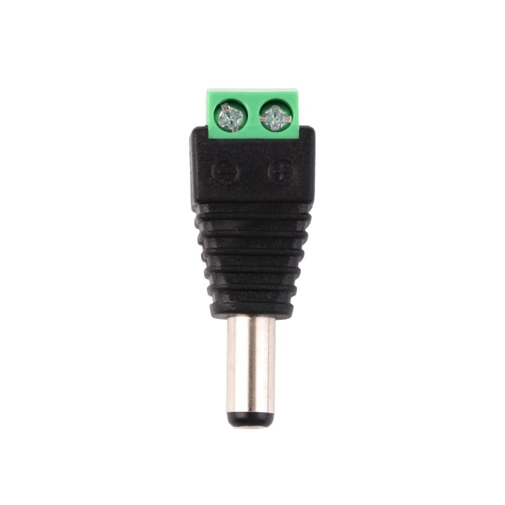 Mini Portable DC 12V Plug Cable Adapter Connector Male For 5050 3528 LED Connector Strip Light Power Supply