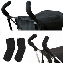2 pcs/Lot Neoprene Baby Stroller Grip Cover Carriages Poussette Handle Protector Cover Stroller Accessories