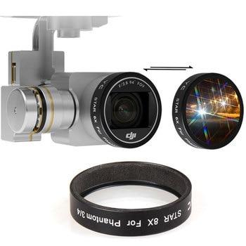 Quick Loading Lens Star Filter Night Filter 4x 6x 8x for DJI Phantom 3 3S 3A 3P SE Phantom 4 Drone Camera Lens Filter Accessory фото