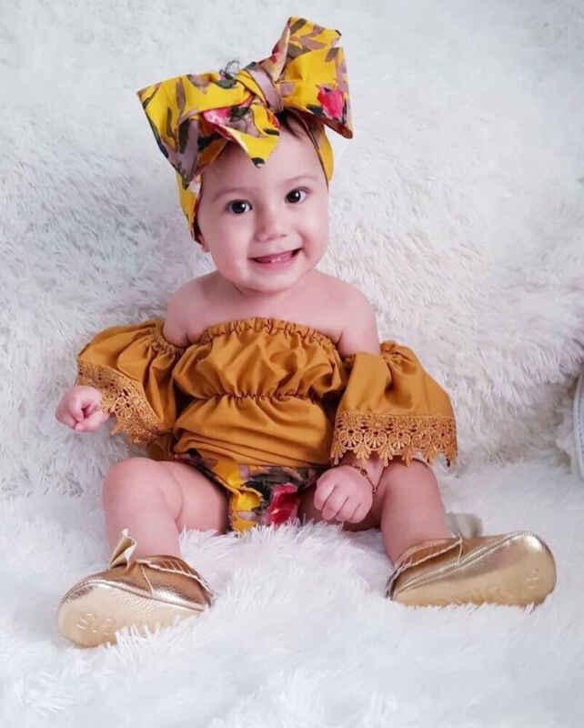 0-5Y เด็กวัยหัดเดินเด็กทารกเด็กฤดูร้อนชุดเสื้อผ้าปิดไหล่ลูกไม้สั้นแขนเสื้อกางเกง PP กางเกง 3Pcs ชุด