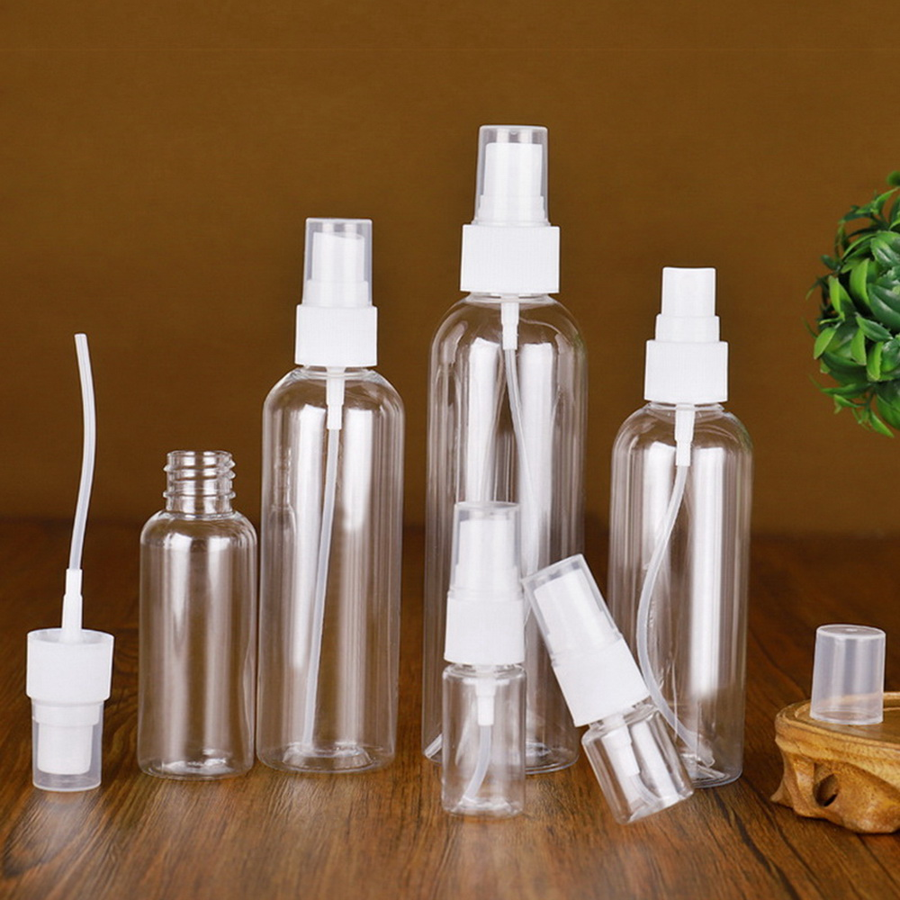 100ml Refillable Spray Bottle Empty PET Plastic White Fine Mist Spray Containers For Disinfectant Cleaner Hand Sanitizer Alcohol