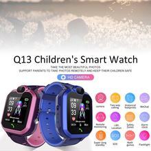 Новейший Q13 1.44IN сенсорный экран IP67 водонепроницаемый SOS позиционирование смарт детские телефон часы VS для Q12 Смарт часы