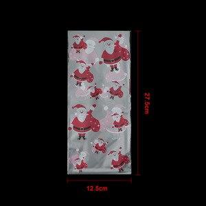 Image 5 - 50 Stks/partij Vrolijk Kerstfeest Bakken Verpakking Zakken Cartoon Kerst Kerstman Snowman Snack Snoep Zak Koekjes Snoep Opbergtas