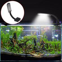 Prosta lampka akwariowa LED woda trawa rośliny rosną światło do akwarium Clip-on wodoodporne oświetlenie lampy 85LA tanie tanio ANENG CN (pochodzenie) Klips normal fish EU Plug Plastic