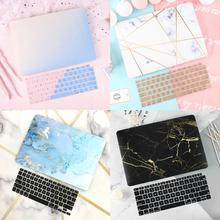 """Прорезиненный матовый чехол для ноутбука Macbook Air 13 Mac Book retina Pro 13 1"""" Touch bar A1989 A1990+ чехол для клавиатуры"""