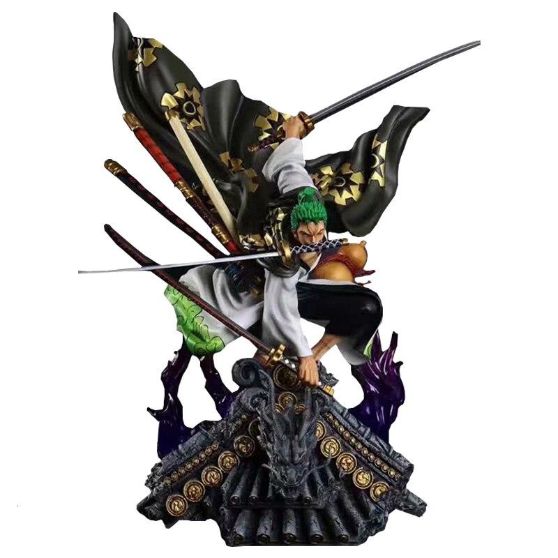 Одна фигурка GK кимоно Roronoa Зоро 50 см ПВХ Модель Аниме коллекционная игрушка размер KO изысканное качество украшение для рабочего стола