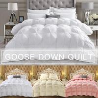 4D Luxury Goose Down Duvet Quilted Quilt King Queen Full Size Comforter Winter Thick Blanket Home Hotel Goose Down Quilt