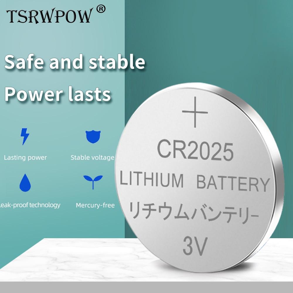 TSRWPOW – pile bouton au Lithium 3V, pour appareil photo, montre, caméscope numérique, pièce de monnaie, cellule L12, 100% Original, br2022 KCR2025