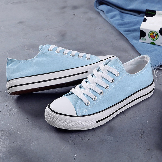 2020 Spring Autumn New Style Women Vulcanized Solid Shoes Sneakers Ladies Lace-up Casual Shoes Breathable Walking Canvas Shoes
